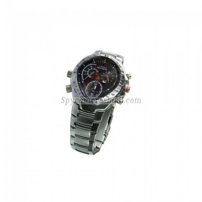 Spy Watch Cameras recoder - HD Hidden Waterproof Stainless Cover Sports Spy Watch (4GB)