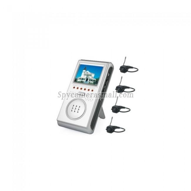 nanny spy camera - 2.5-inch Wireless Four Channel AV Baby Monitor with Four Wireless Cameras