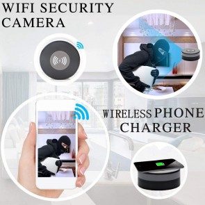 HD WIFI IP Camera Wireless Charger Pad Spy Cam best for Nanny Video Recorder 1080P