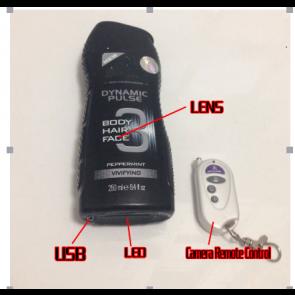 Shower Spy Camera in Bathroom 32G Full HD 720P DVR with motion sensor